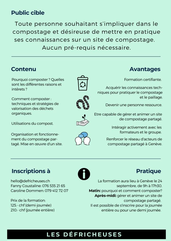 Formation Guide composteur Genève septembre 2021
